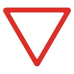 Дорожный знак 2.4 Уступите дорогу (A=900)