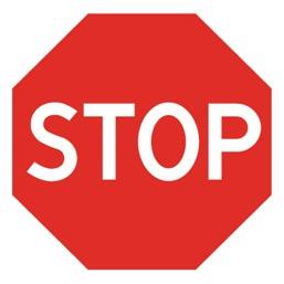 Дорожный знак 2.5 Движение без остановки запрещено (B=700)