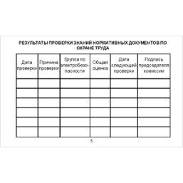 Бланк удостоверения о проверке знаний правил работы в электроустановках (Приказ Минтруда России от 19.02.2016 №74н) - 8 страниц