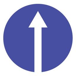 Дорожный знак 4.1.1 Движение прямо (D=700)