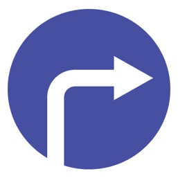 Дорожный знак 4.1.2 Движение направо (D=700)