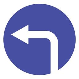 Дорожный знак 4.1.3 Движение налево (D=700)