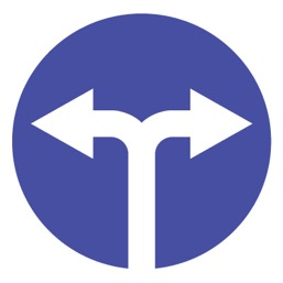 Дорожный знак 4.1.6 Движение направо или налево (D=700)
