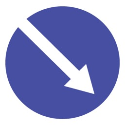 Дорожный знак 4.2.1 Объезд препятствия справа (D=700)