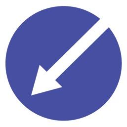 Дорожный знак 4.2.2 Объезд препятствия слева (D=700)