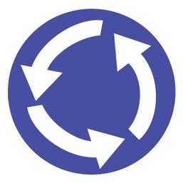 Дорожный знак 4.3 Круговое движение (D=700)