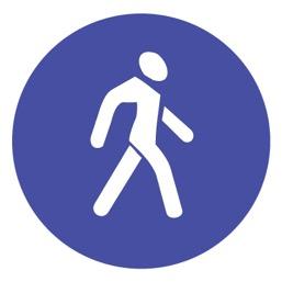 Дорожный знак 4.5 Пешеходная дорожка (D=700)