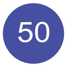 Дорожный знак 4.6 Ограничение минимальной скорости (D=700)
