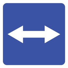 Дорожный знак 5.10 Выезд на дорогу с реверсивным движением (B=700)