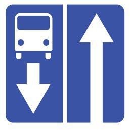 Дорожный знак 5.11 Дорога с полосой для маршрутных транспортных средств (B=700)