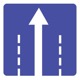 Дорожный знак 5.15.2 Направления движения по полосе (B=700)