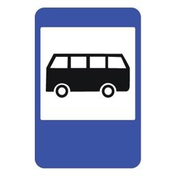 Дорожный знак 5.16 Место остановки автобуса и (или) троллейбуса (900 x 600)