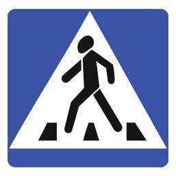 Дорожный знак 5.19.1 Пешеходный переход (B=700)