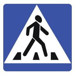 Дорожный знак 5.19.2 Пешеходный переход (B=700)