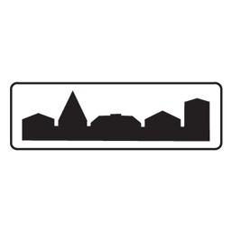 Дорожный знак 5.23.2 Начало населенного пункта (350 x 1050)