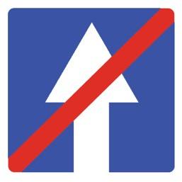 Дорожный знак 5.6 Конец дороги с односторонним движением (B=700)