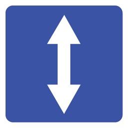 Дорожный знак 5.8 Реверсивное движение (B=700)