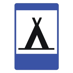 Дорожный знак 7.10 Кемпинг (1050 x 700)