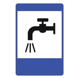 Дорожный знак 7.8 Питьевая вода (1050 x 700)