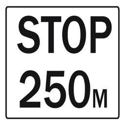 Дорожный знак 8.1.2 Расстояние до объекта (700 x 700)