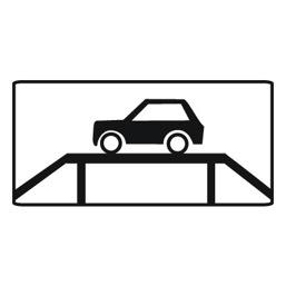 Дорожный знак 8.10 Место для осмотра автомобилей (350 x 700)