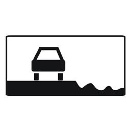 Дорожный знак 8.12 Опасная обочина (350 x 700)