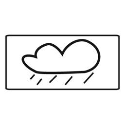 Дорожный знак 8.16 Влажное покрытие (350 x 700)