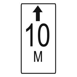 Дорожный знак 8.2.2 Зона действия (700 x 350)
