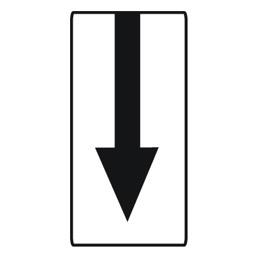Дорожный знак 8.2.3 Зона действия (700 x 350)