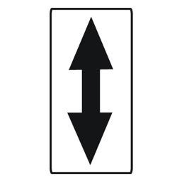 Дорожный знак 8.2.4 Зона действия (700 х 350)