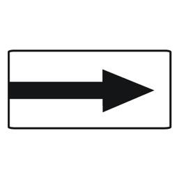 Дорожный знак 8.3.1 Направления действия (350 x 700)