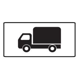 Дорожный знак 8.4.1 Вид транспортного средства (350 x 700)