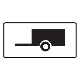 Дорожный знак 8.4.2 Вид транспортного средства (350 x 700)