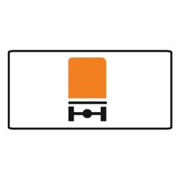 Дорожный знак 8.4.8 Вид транспортного средства (350 x 700)