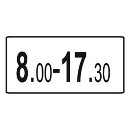 Дорожный знак 8.5.4 Время действия (350 x 700)
