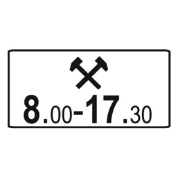 Дорожный знак 8.5.6 Время действия (350 x 700)