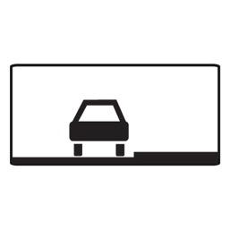 Дорожный знак 8.6.1 Способ постановки транспортного средства на стоянку (350 x 700)