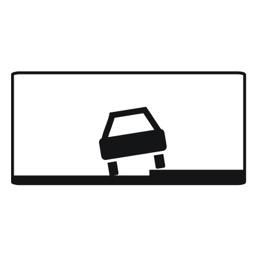 Дорожный знак 8.6.2 Способ постановки транспортного средства на стоянку (350 x 700)
