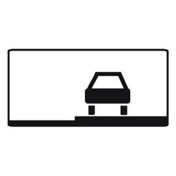 Дорожный знак 8.6.3 Способ постановки транспортного средства на стоянку (350 x 700)