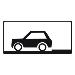 Дорожный знак 8.6.4 Способ постановки транспортного средства на стоянку (350 x 700)