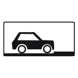 Дорожный знак 8.6.5 Способ постановки транспортного средства на стоянку (350 x 700)
