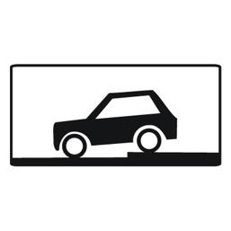 Дорожный знак 8.6.6 Способ постановки транспортного средства на стоянку (350 x 700)