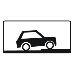 Дорожный знак 8.6.7 Способ постановки транспортного средства на стоянку (350 x 700)