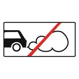 Дорожный знак 8.7 Стоянка с неработающим двигателем (350 x 700)