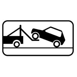 Дорожный знак 8.24 Работает эвакуатор (350 x 700)