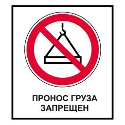 Знак CT30 Пронос груза запрещен (Пластик 1000 х 700)
