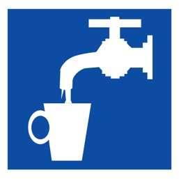 Знак D02 Питьевая вода •ГОСТ 12.4.026-2015• (Пленка 200 х 200)