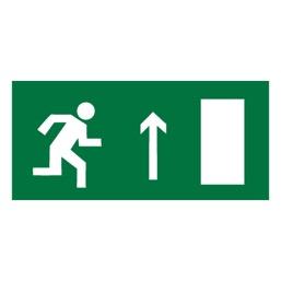 Знак E11 Направление к эвакуационному выходу прямо (правосторонний) •ГОСТ 12.4.026-2015• (Пленка 150 х 300)