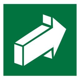 Знак E18 Открывать движением от себя •ГОСТ 12.4.026-2015• (Пленка 200 х 200)