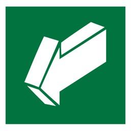 Знак E19 Открывать движением на себя •ГОСТ 12.4.026-2015• (Пленка 200 х 200)